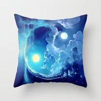 pocket fuel Throw Pillows featuring Fuel for Life by Cyril ROLANDO