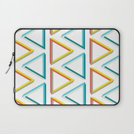Impossible triangles geeky pattern. Laptop Sleeve