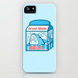 Great White Milk iPhone Case