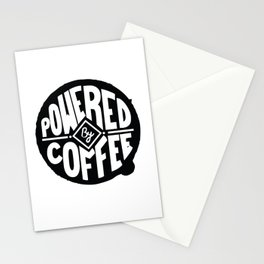 POWERED BY COFFEE Stationery Cards