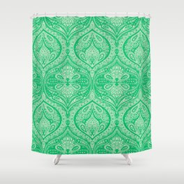 Simple Ogee Green Shower Curtain