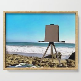 Paint On The Beach Serving Tray