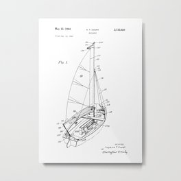 patent art Court Sailboat 1964 Metal Print