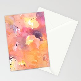 Abstract Watercolor Colorful Painting Stationery Cards