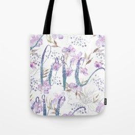 love watercolor flower print Tote Bag