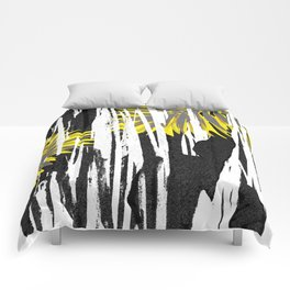 Abstract Palm Tree Leaves Design Comforters