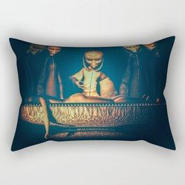 Alien Abduction Alien Autopsy Rectangular Pillow