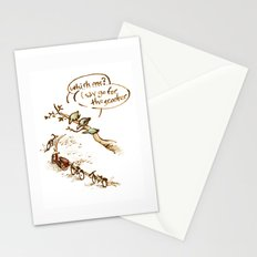 Pigeons and a scooter Stationery Cards
