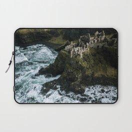 Castle ruin by the irish sea - Landscape Photography Laptop Sleeve