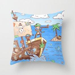 Even Pirates Need to Listen Throw Pillow