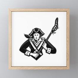 Girl Patriot Lacrosse Player Mascot Framed Mini Art Print