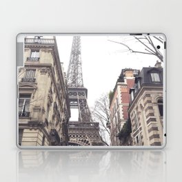 Paris streets, Eiffel tower, city skyline, industrial fine art photo, shabby chic Laptop & iPad Skin
