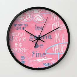 breakup doodles Wall Clock