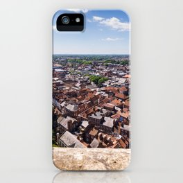 View of York from York Minster Cathedral tower iPhone Case