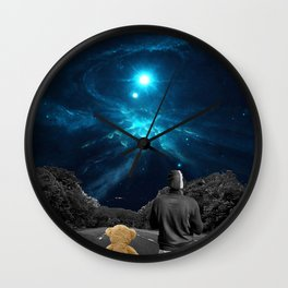 Nebulea and Teddy Wall Clock