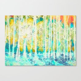 Sherwood Pines Abstract Art Canvas Print