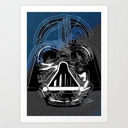 Darth Vader the Grey Art Print