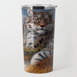 Leopard Mother And Cub In Pasture Ultra HD Travel Mug