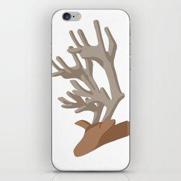 Deer bending with Antlers in brown iPhone Skin