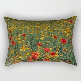 Beautiful Blooming Texas Wildflowers in Spring Rectangular Pillow
