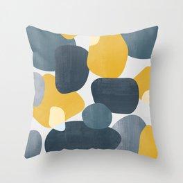 Abstract Mustard Shape Design Throw Pillow