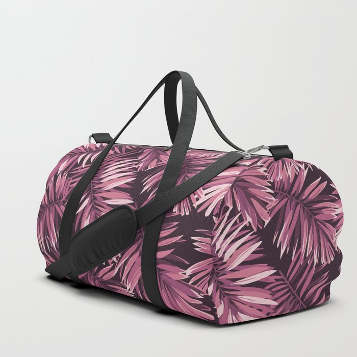Rose palm leaves Duffle Bag