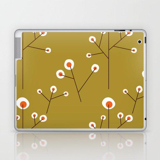 Retro Green Pattern Design Laptop & iPad Skin