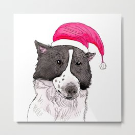 Merry Christmas from My Dog Metal Print