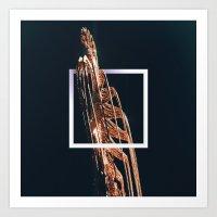 Fractal Split Depth Art Print