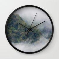 fog Wall Clocks featuring Fog by Michelle McConnell