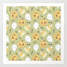 Trick Treat Boo I Art Print