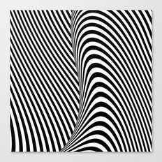 Black and White Pop Art optical illusion Canvas Print