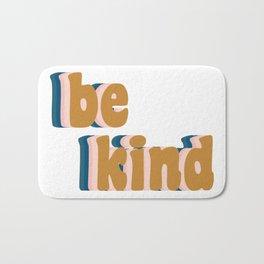 Be Kind Fun Retro Lettering Bath Mat