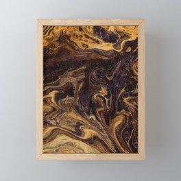 Chocolate and Gold Framed Mini Art Print