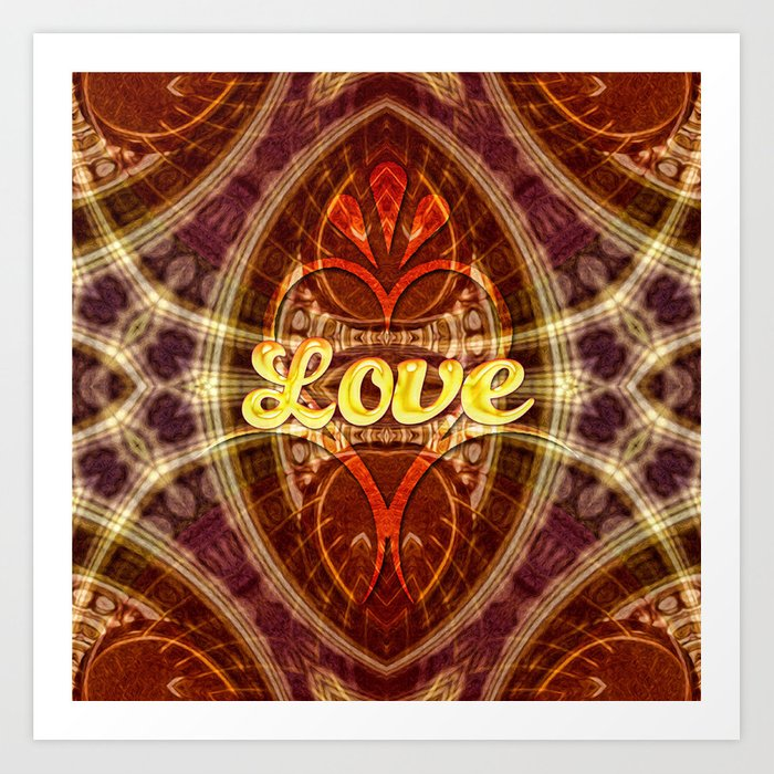 Tribal Geometry Love (earthy) Art Print