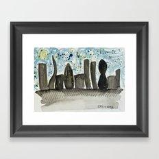 city scene Framed Art Print