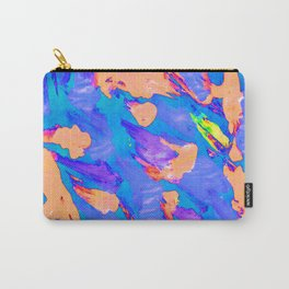 Foil Monoprint Light Blue and Peach Carry-All Pouch