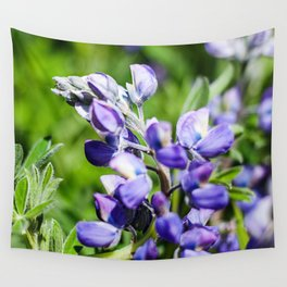 Purple Lupine Photography Print Wall Tapestry