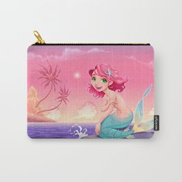 Young mermaid in a romantic landscape Carry-All Pouch