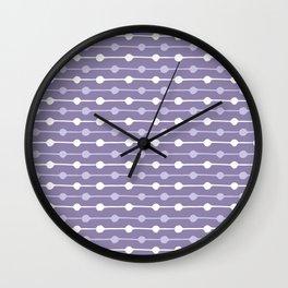 Dots Stripes Ultraviolet Wall Clock