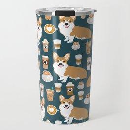 Corgi Coffee print corgi coffee pillow corgi iphone case corgi dog design corgi pattern Travel Mug