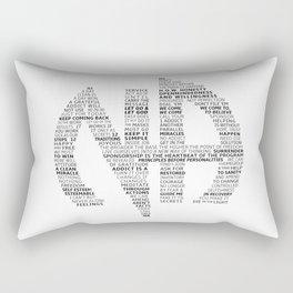 Narcotics Anonymous Symbol in Slogans Rectangular Pillow