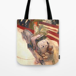 "Henri de Toulouse-Lautrec ""Equestrienne (At the Cirque Fernando)"" Tote Bag"
