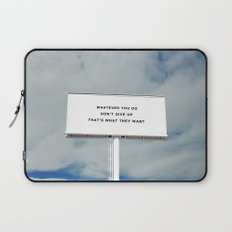 WHATEVER YOU DO Laptop Sleeve