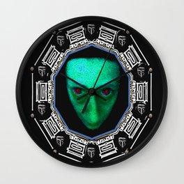 Planet Of Horror Pattern Wall Clock