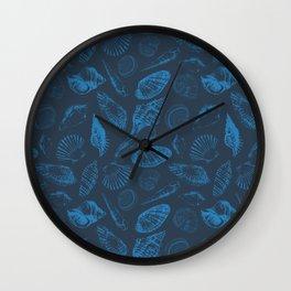 Tropical sea shells Wall Clock