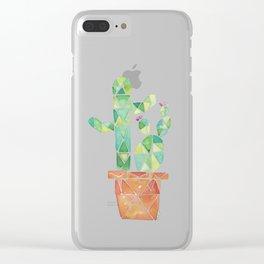 Geometric Cacti Clear iPhone Case