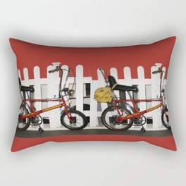 Red Bike Vintage chopper 1970  Rectangular Pillow