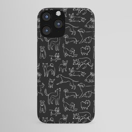 Dogs Fun Black iPhone Case