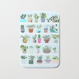 Succulent and Cactus shelfie Bath Mat